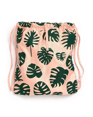 Got Your Back Drawstring Backpack - Monstera