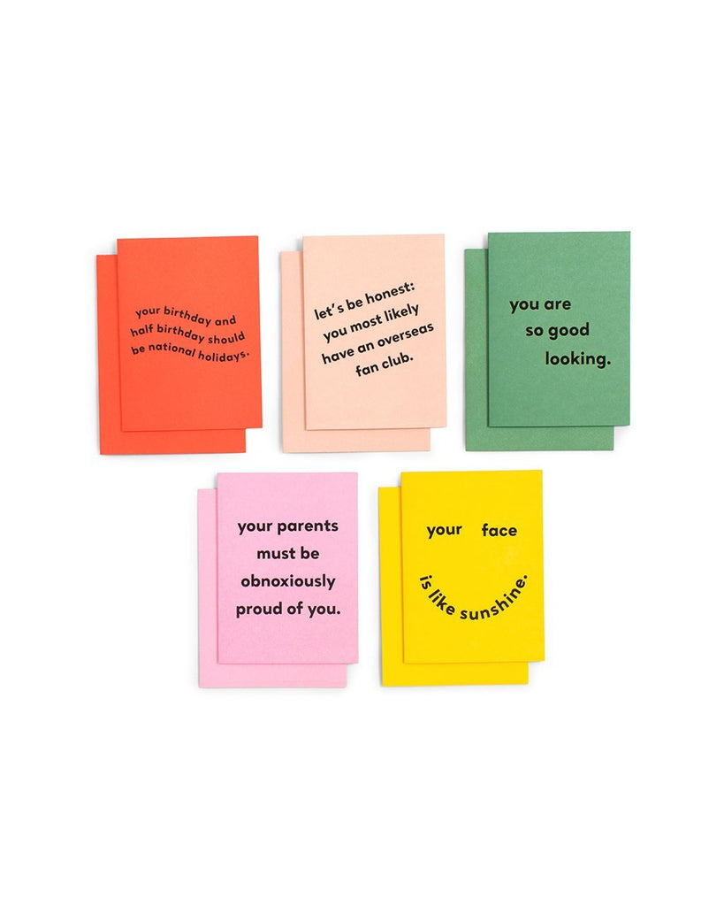 greeting card set - compliments