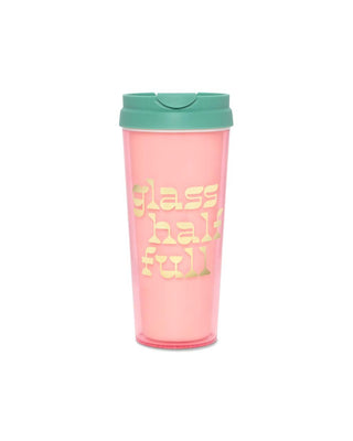 Hot Stuff Thermal Mug - Glass Half Full