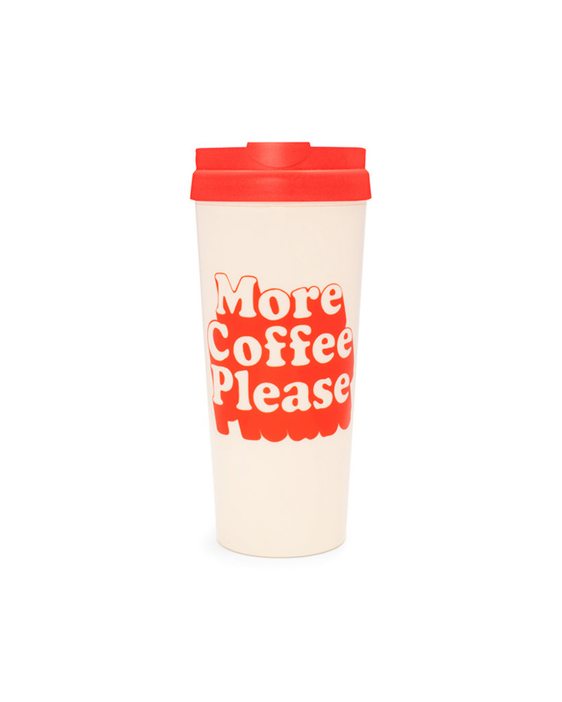 hot stuff thermal mug - more coffee please