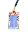 Keep It Close Card Case With Lanyard - Daisies