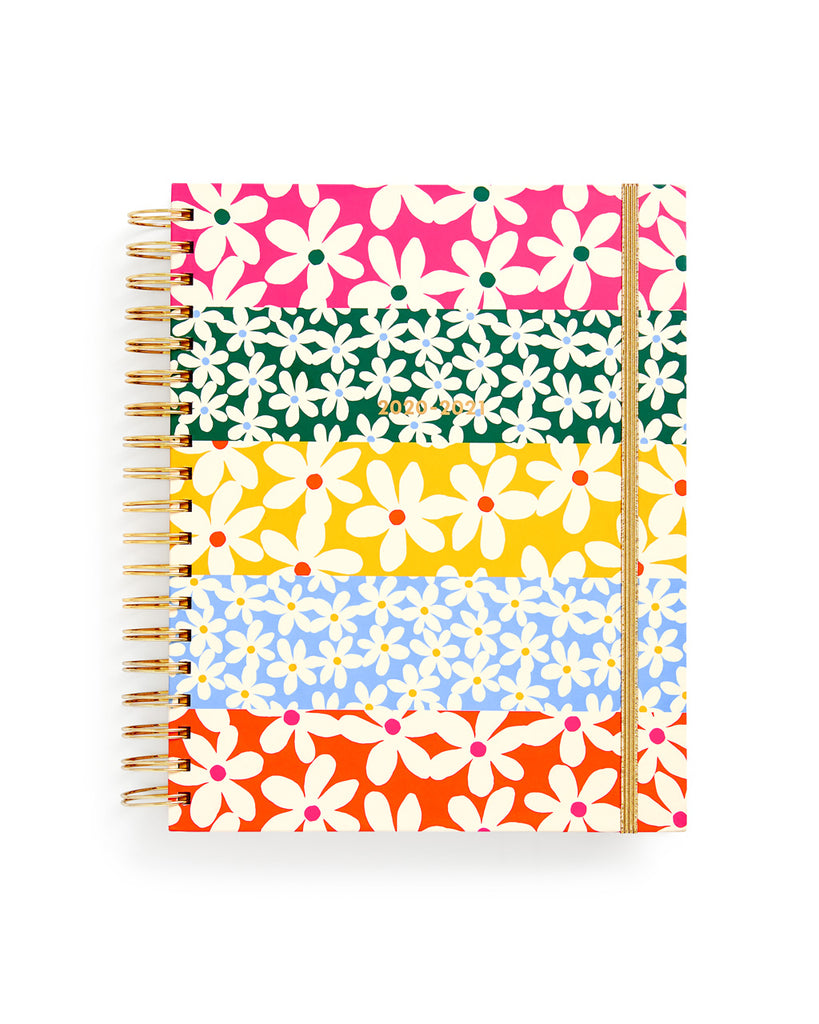 Large 17-Month Academic Planner - Daisies