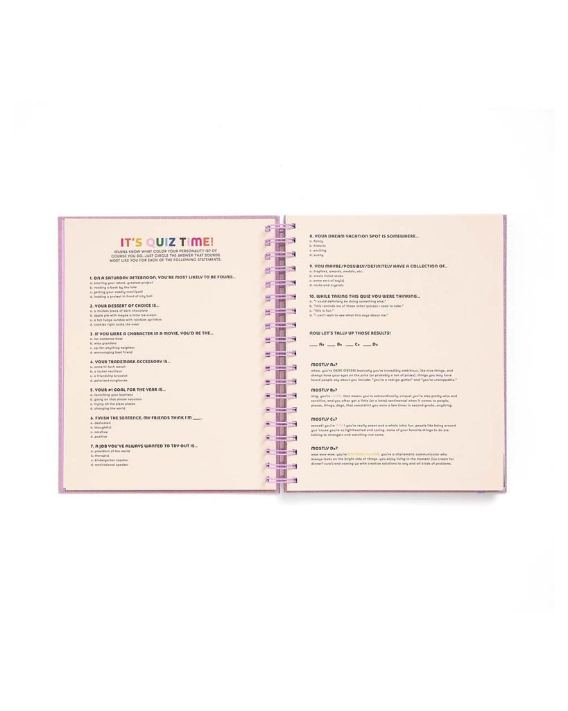 Large 17-Month Academic Planner - Lilac Glitter
