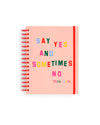Medium 17-Month Planner - Say Yes