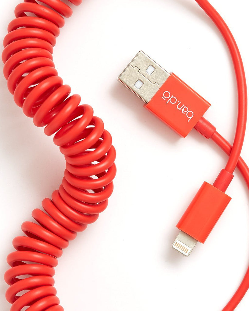 on the line charging cord - red
