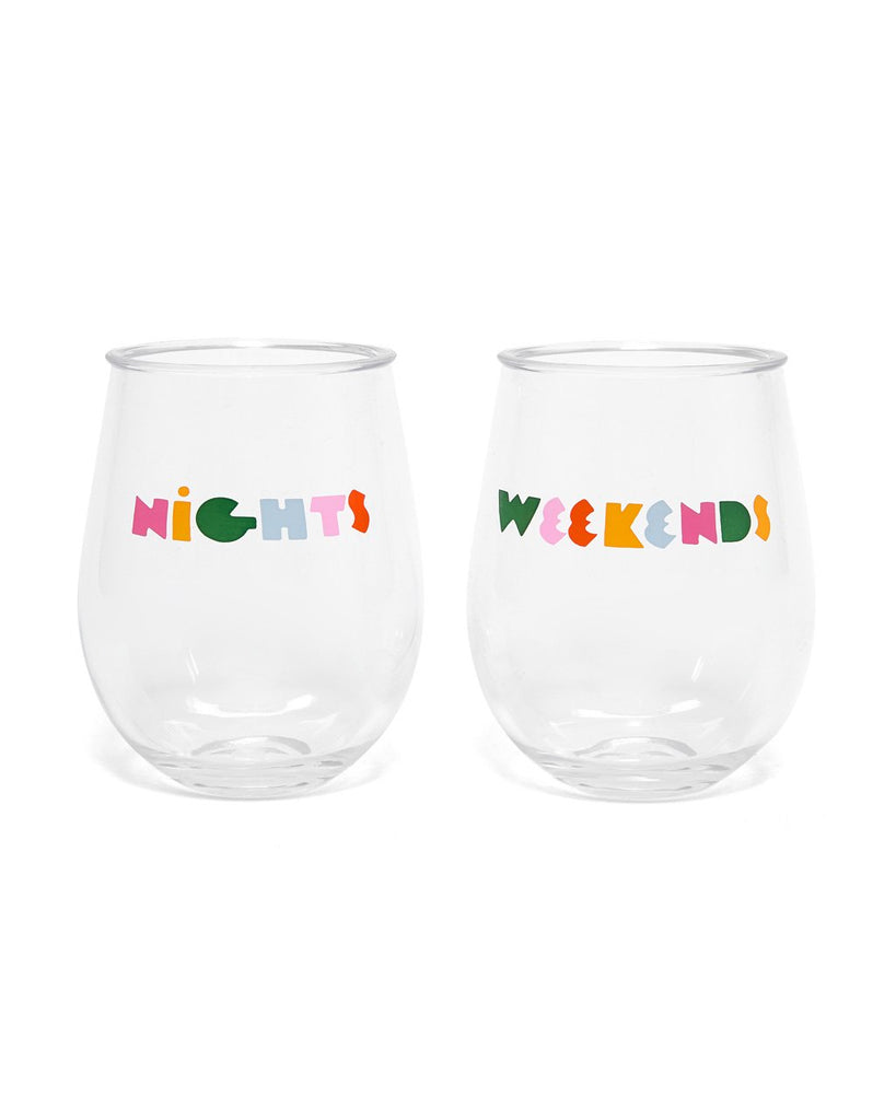 Party On! Acrylic Cup Set - Nights + Weekends
