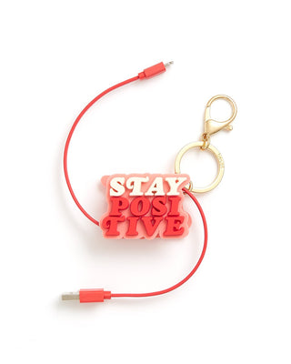 Retractable Charging Cord - Stay Positive