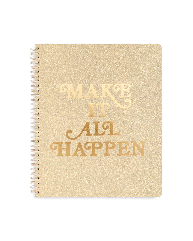 Rough Draft Large Notebook - Make it Happen