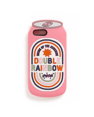Silicone iPhone Plus Case - Double Rainbow