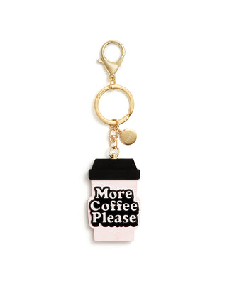 Silicone Keychain - More Coffee Please