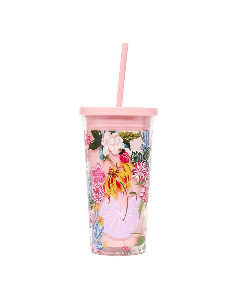 Sip Sip Tumbler With Straw - Garden Party