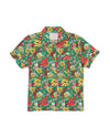 Short Sleeve Leisure Shirt - Emerald Super Bloom