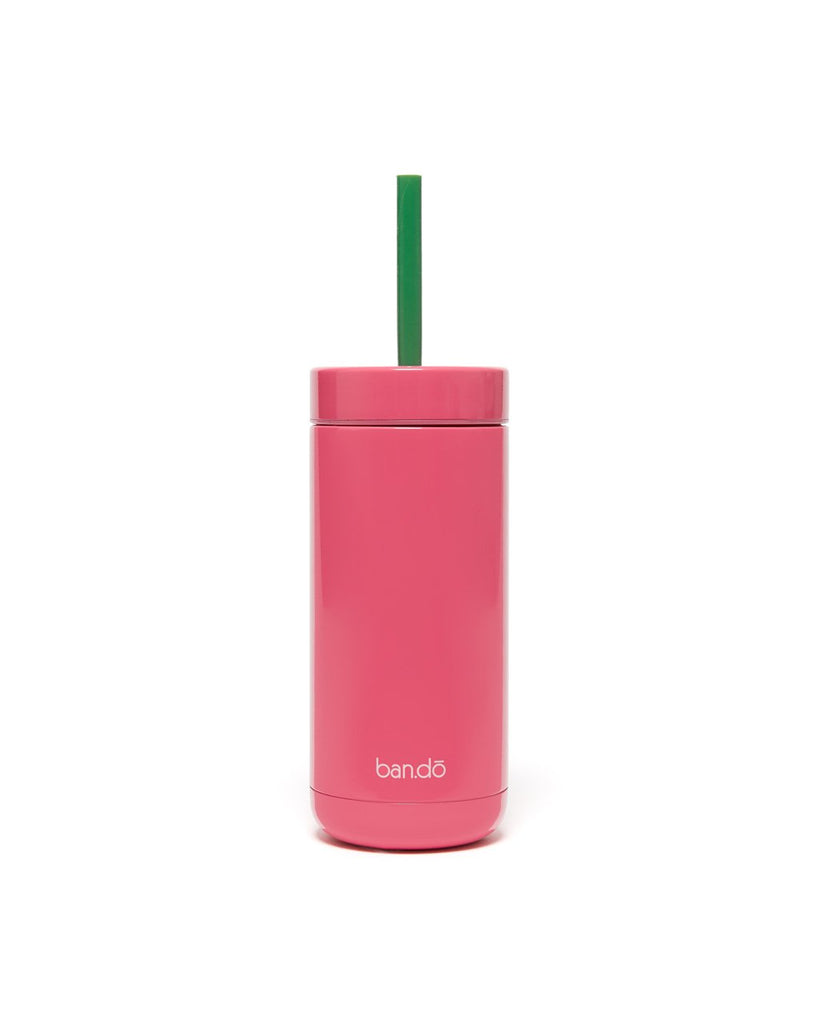Stainless Steel Tumbler with Straw - Make Time for Sunshine