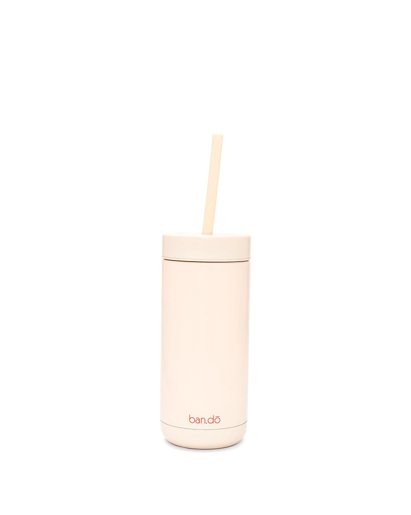 Stainless Steel Tumbler With Straw - Forever Busy