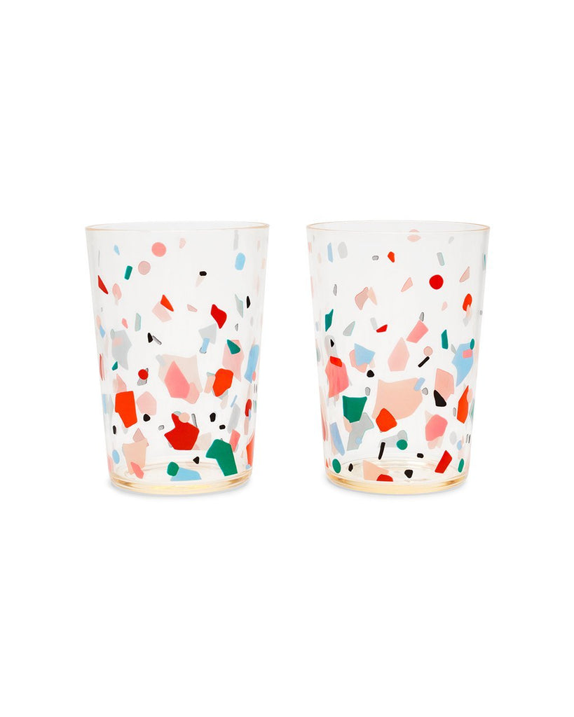 Party On Cocktail Tumblers - Confetti