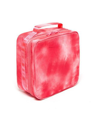 What's For Lunch? Square Lunchbag - Hot Pink Tie Dye