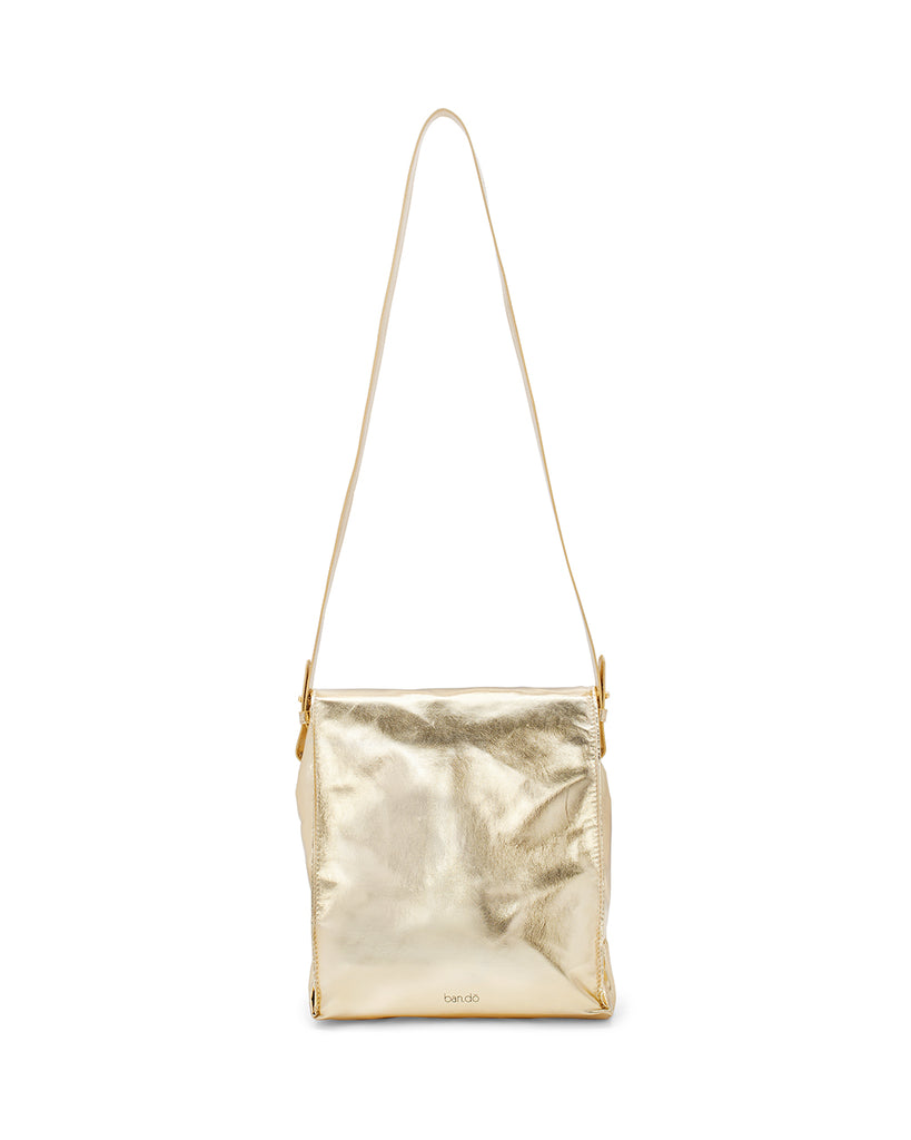 What's for Lunch? Crossbody Bag - Metallic Gold
