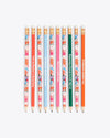 floral and solid color pre sharpened pencils