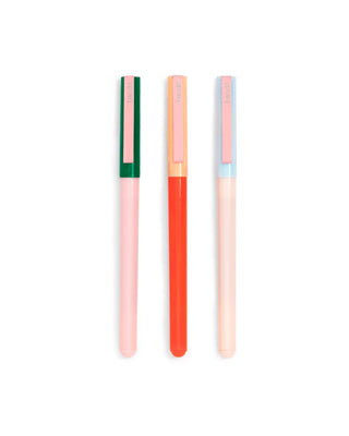 write on pen set - color block