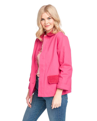 Sherpa Work Jacket - Hot Pink