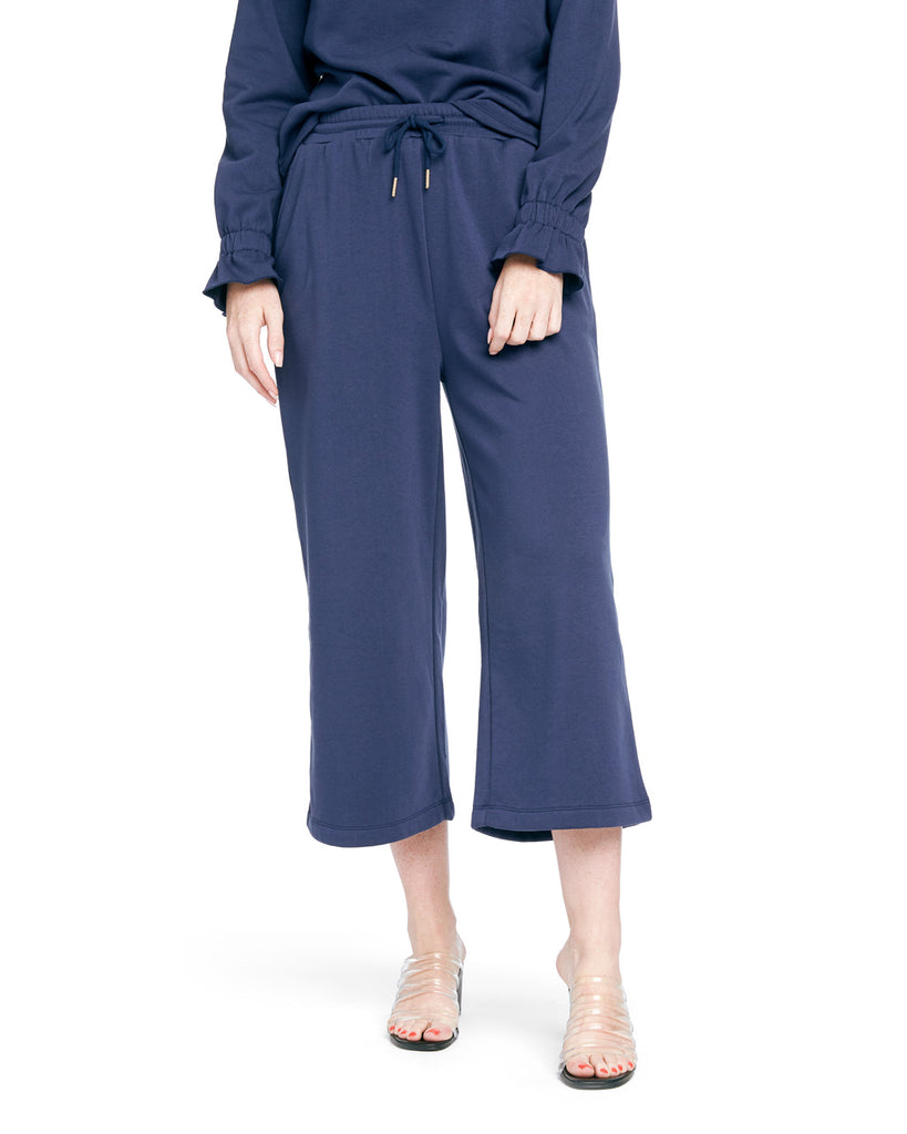 Wide Leg Sweatpant - True Navy