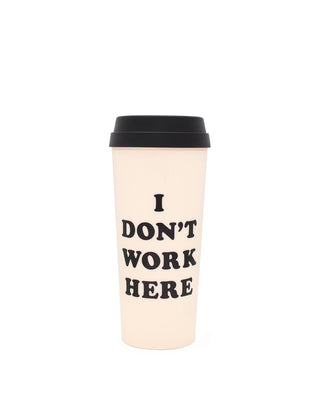 hot stuff thermal mug - i don't work here