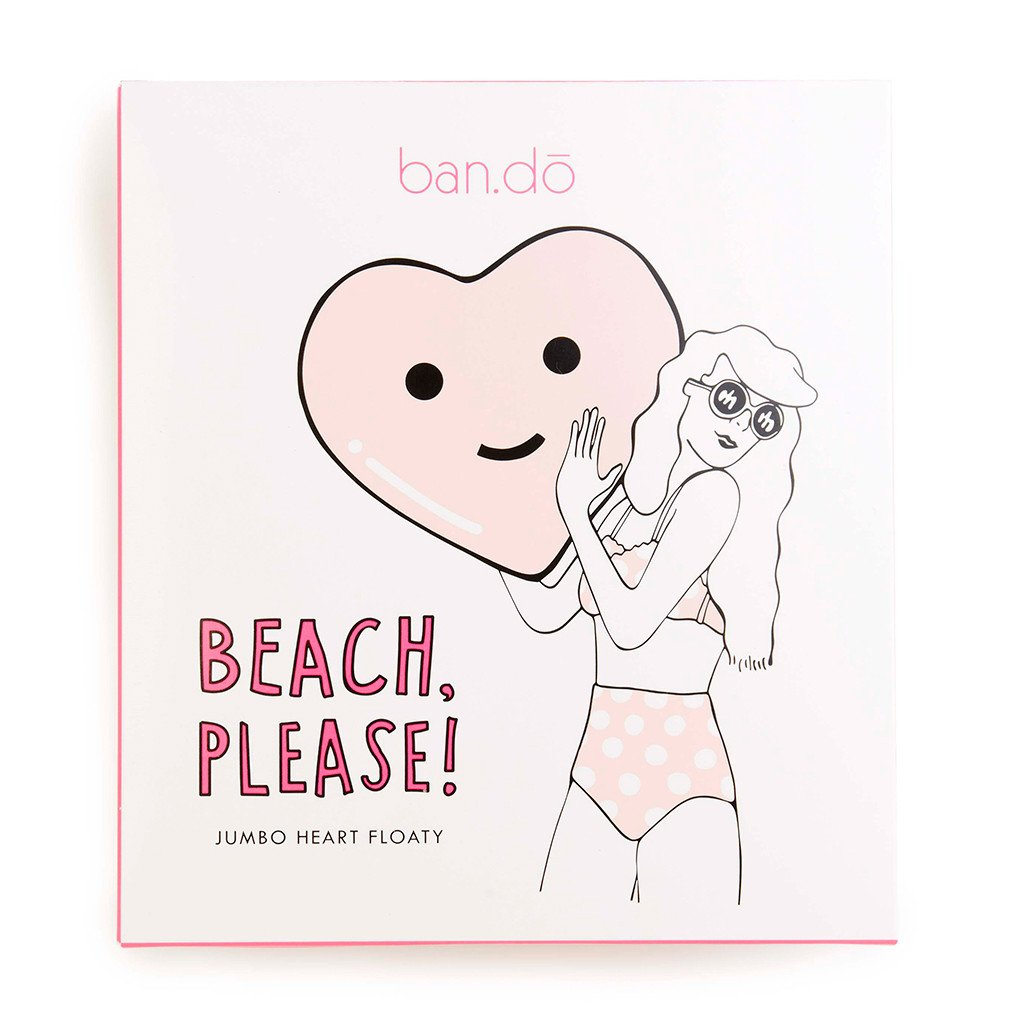beach, please! jumbo heart floaty - package - front