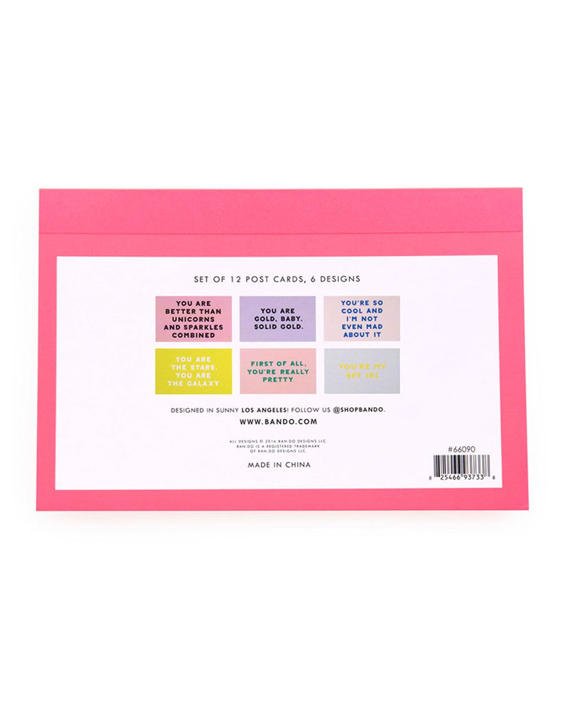 Compliment Postcard Book - Assorted