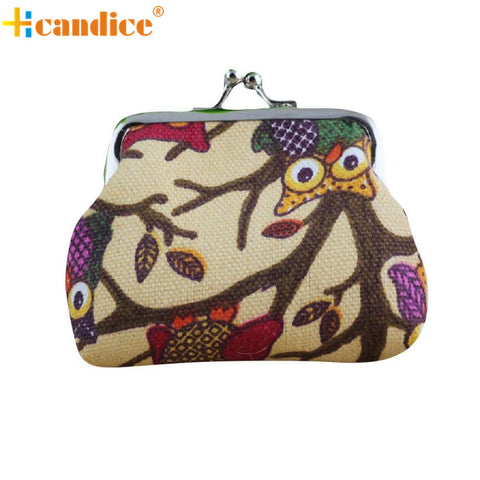 2017 Crazy Owls Lady Mini Linen Change Purse - 6 Styles
