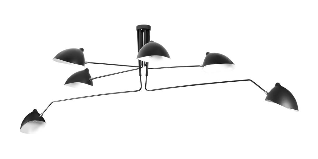 Mcl R6 Style Contemporary Pendant Lamp Serge Mouille