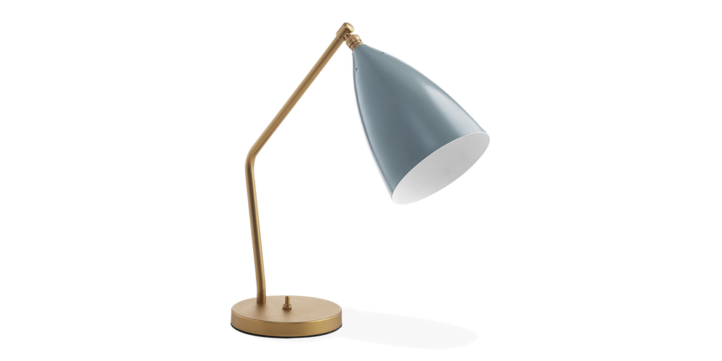 Lampe de table grasshopper greta grossman designer for Wagenfeld tischleuchte replica