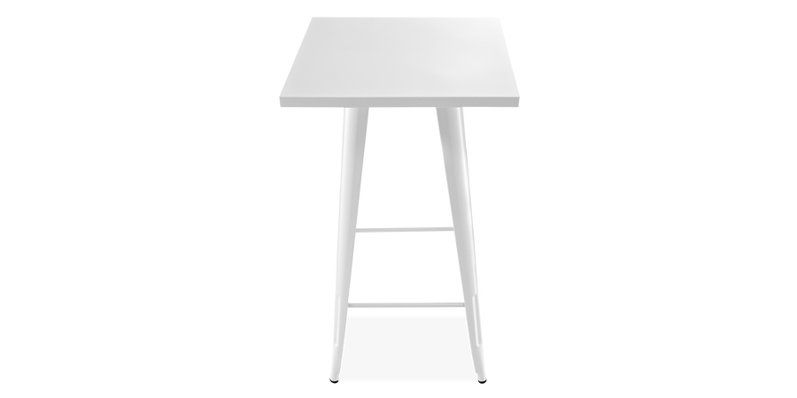 Tolix Side Table Tall White Metal