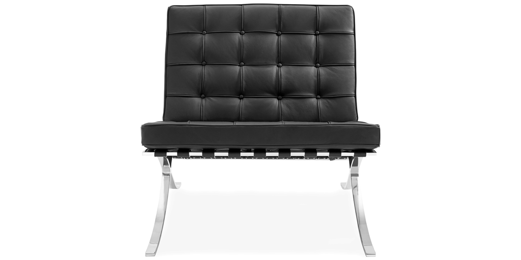 barcelona chair replica mies van der rohe designer. Black Bedroom Furniture Sets. Home Design Ideas