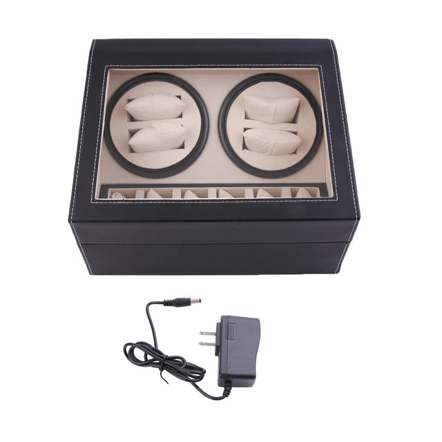 4+6 Automatic Rotation Leather Watch Winder