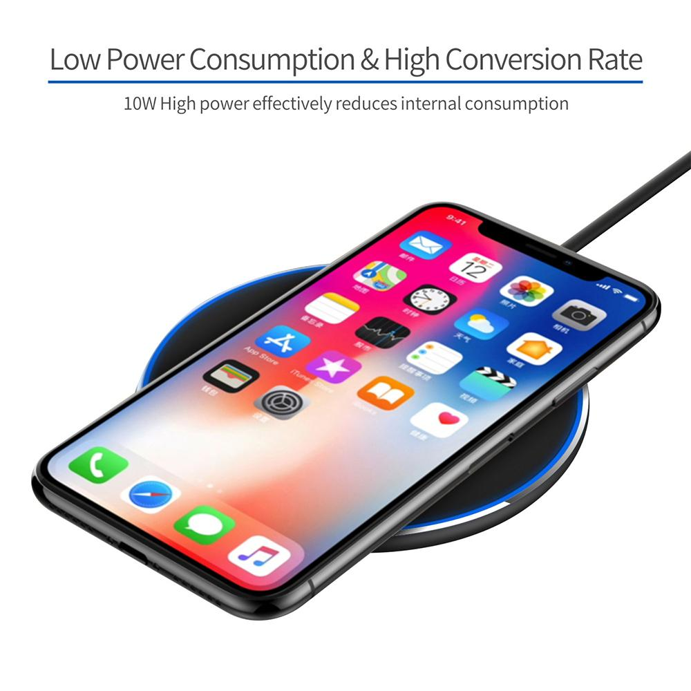 10W Qi Mobile Phone Portable Fast Wireless Charger-SP