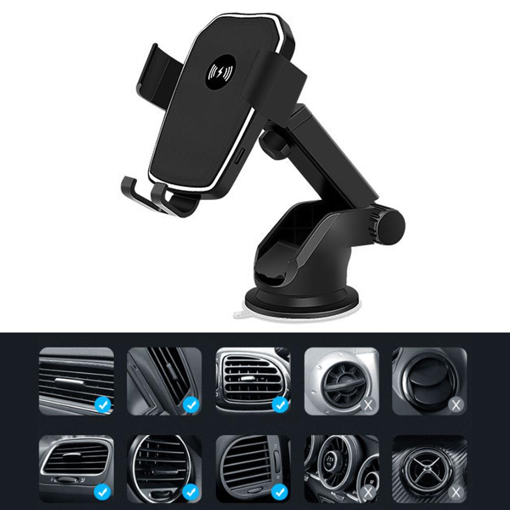 10W Intelligent Identification Car Phone Holder Wireless Charger SP