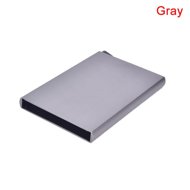 Unisex Aluminum Card Case Wallet