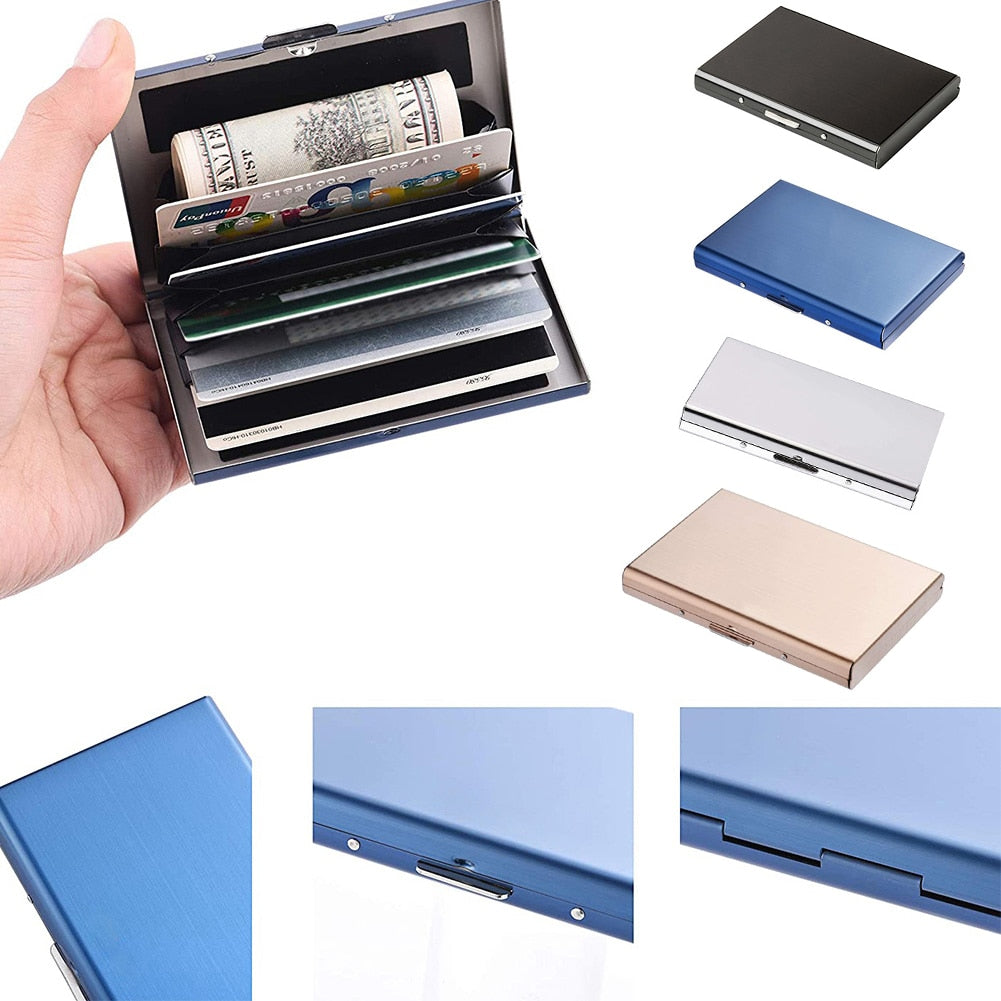 Anti-theft RFID Stainless Steel Card Holder