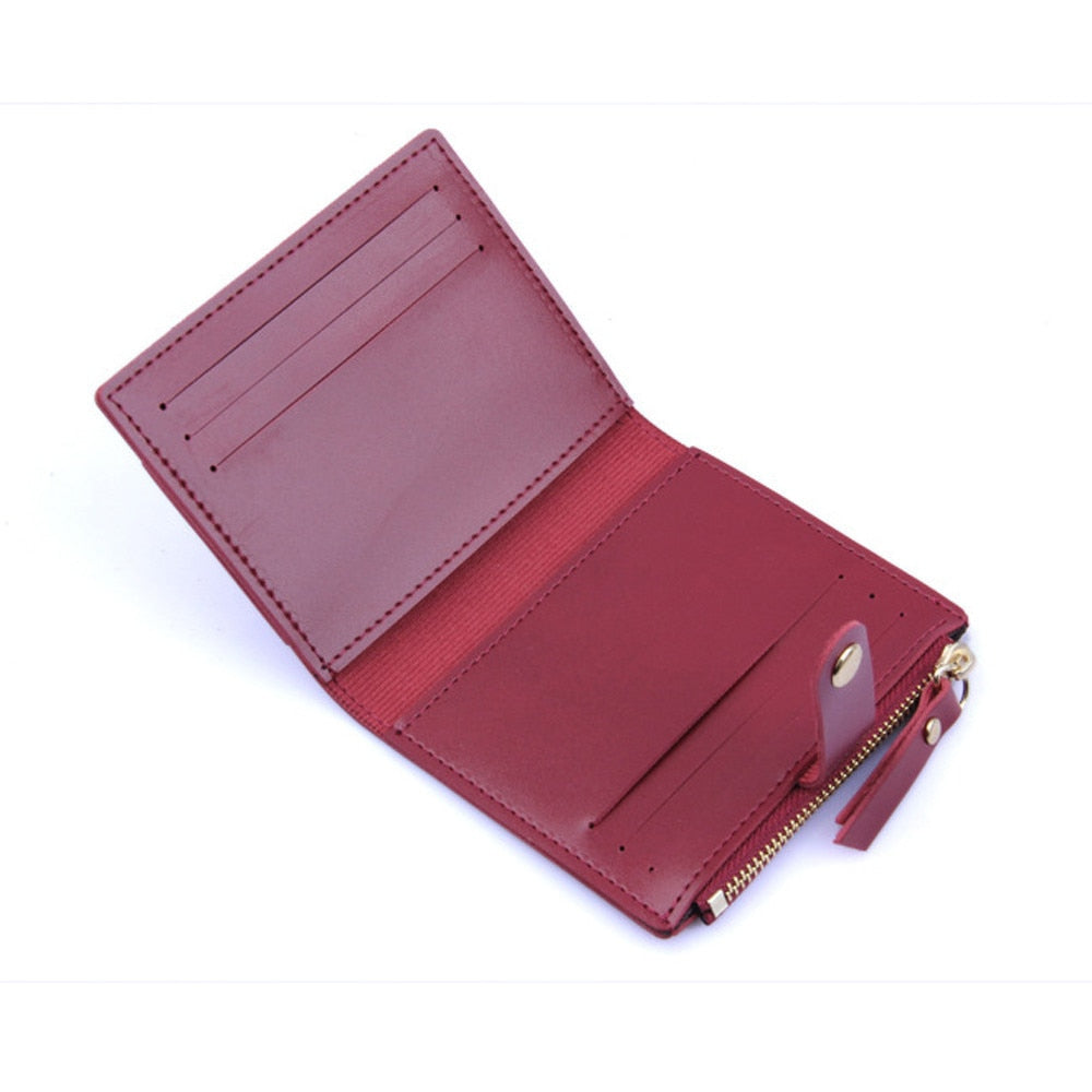 Small Leather Zippered Card Wallet