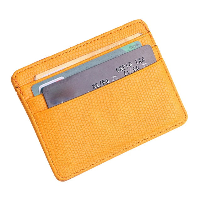 Unisex Leather Embossed Card Holder