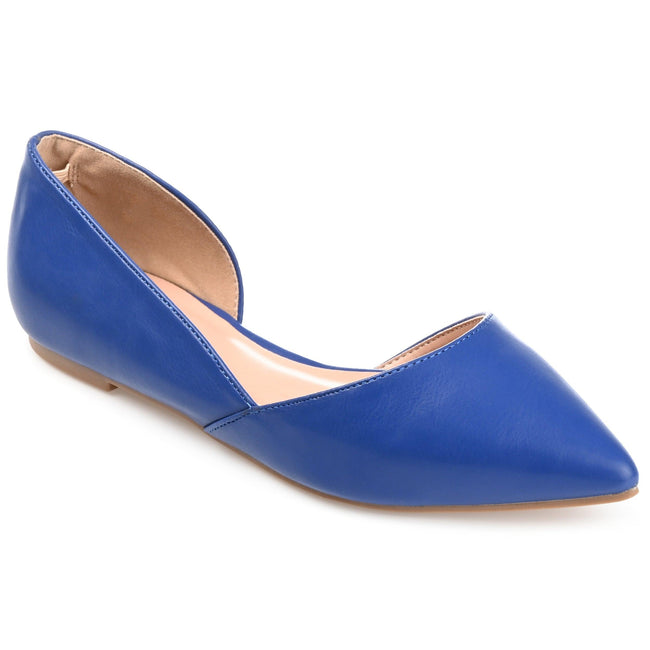 Wide Width Pointed Toe Cut-out Flats