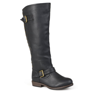 Journee Collection Womens Studded Knee-High Riding Boot