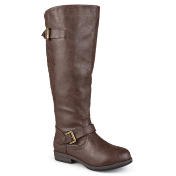 Journee Collection Womens Extra Wide Calf Studded Knee-high Riding Boots