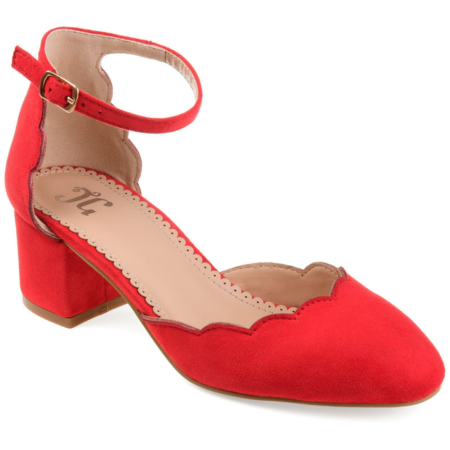 EDNA Shoes Journee Collection Red 5.5