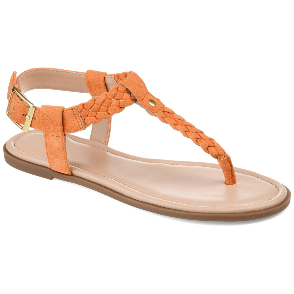 GENEVIVE Shoes Journee Collection Orange 5.5