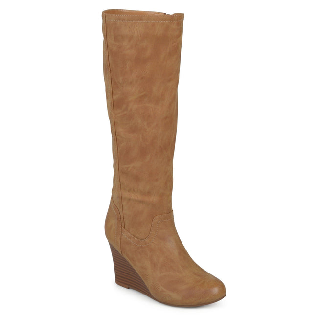 LANGLY Shoes Journee Collection Tan 5.5
