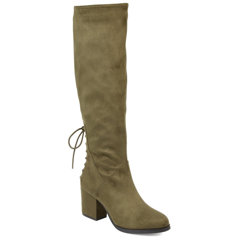 LEEDA EXTRA WIDE CALF Journee Collection Olive 5.5
