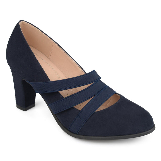 LOREN Shoes Journee Collection Navy 5.5