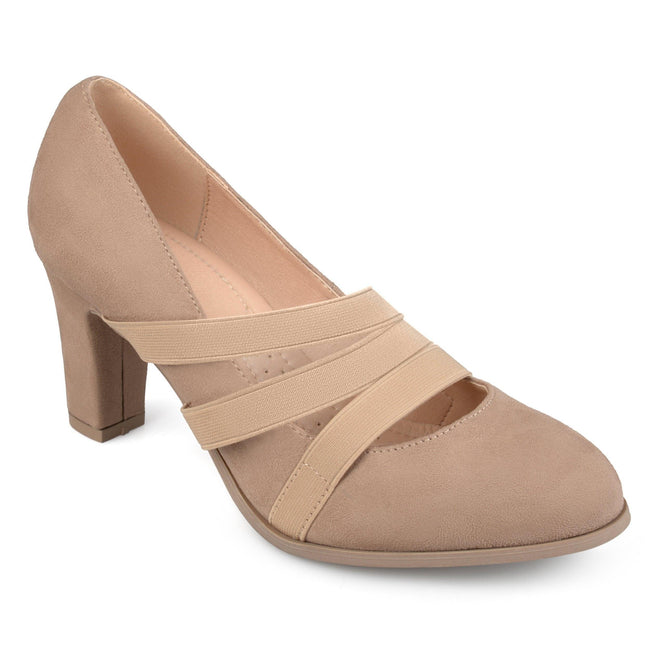 LOREN Shoes Journee Collection Taupe 5.5