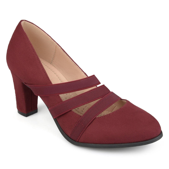 LOREN Shoes Journee Collection Wine 5.5